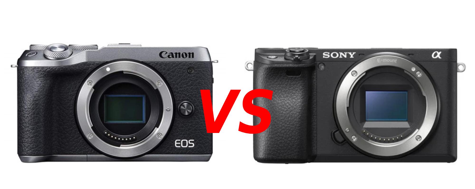 canon eos m6 mark ii vs sony a6400 image