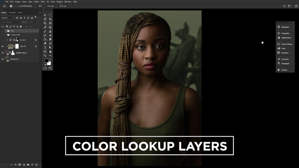 color lookup layers image