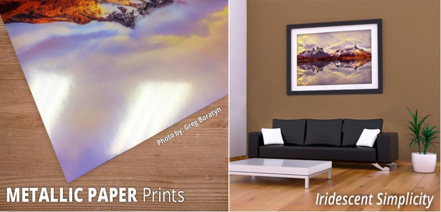 metallic paper prints image