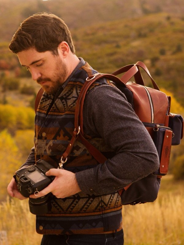 hiking with camera gear image