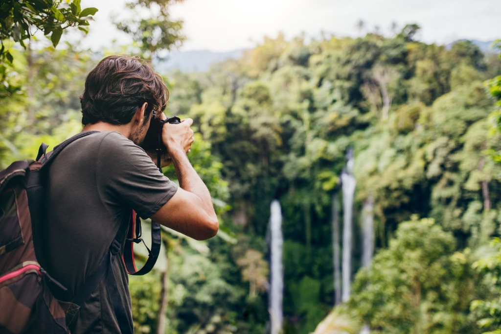 photographing while hiking image