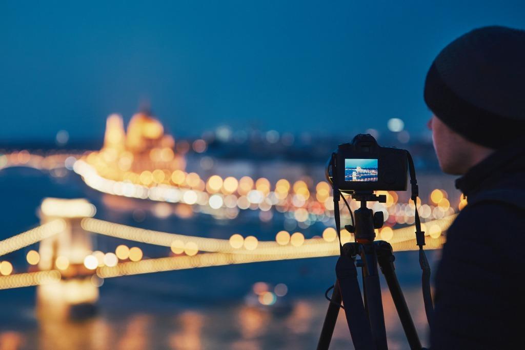 night landscape photography image