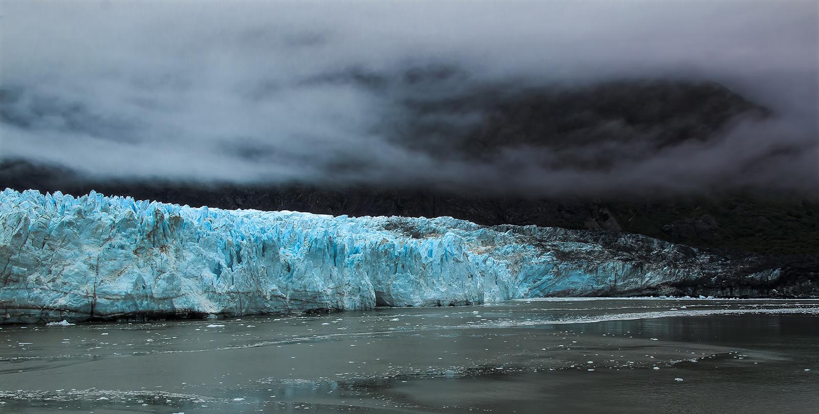 Storm clouds over Margerie glacier