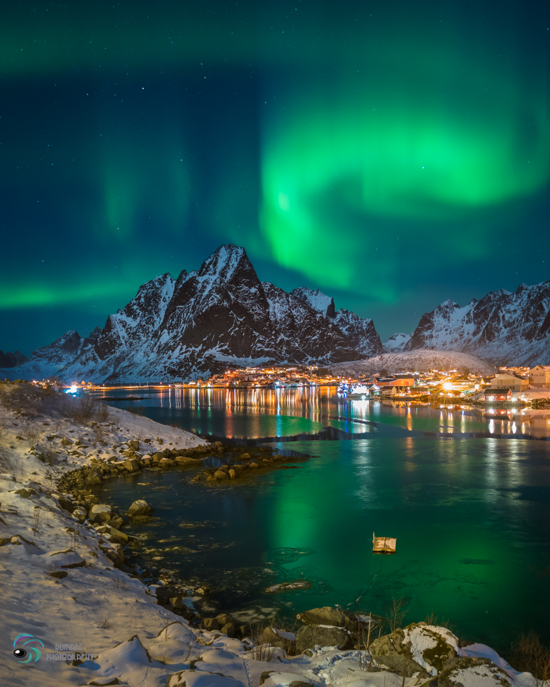 reine, Lofoten, Norway northern lights. lady aurora decided to entertain us with her fancy footsteps up in the sky. Ribbons