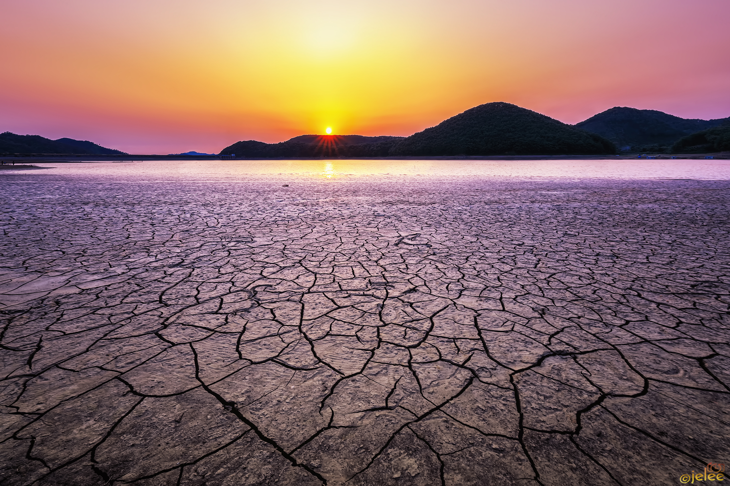 A drought-stricken riverbed
