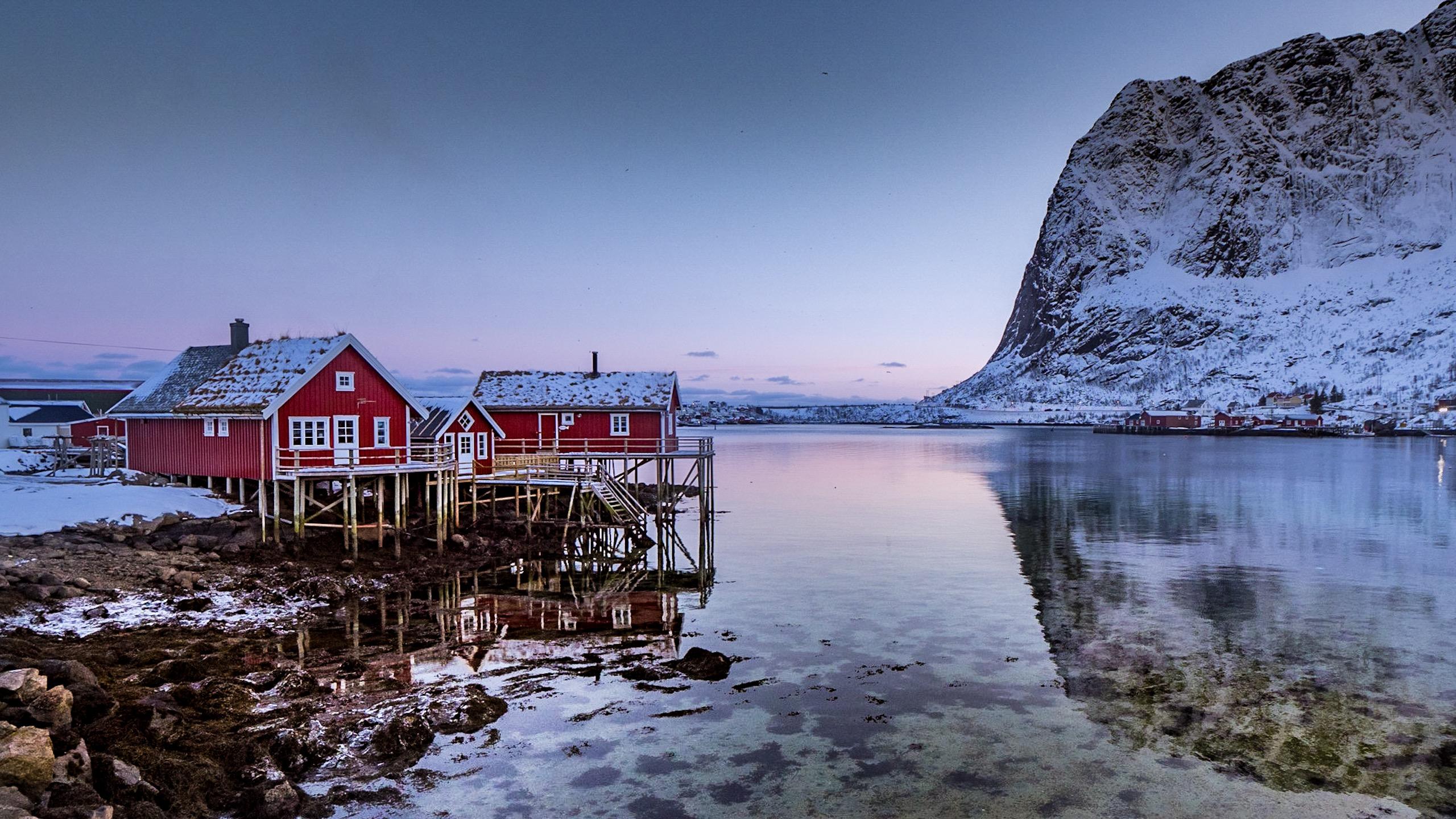 Sunset on a Lofoten fjord