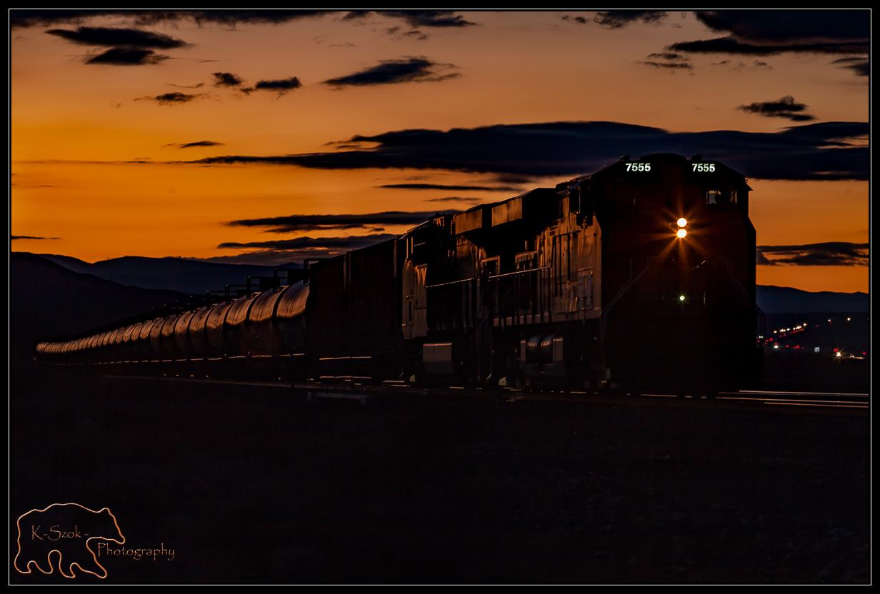 Eastbound empty ethanol train