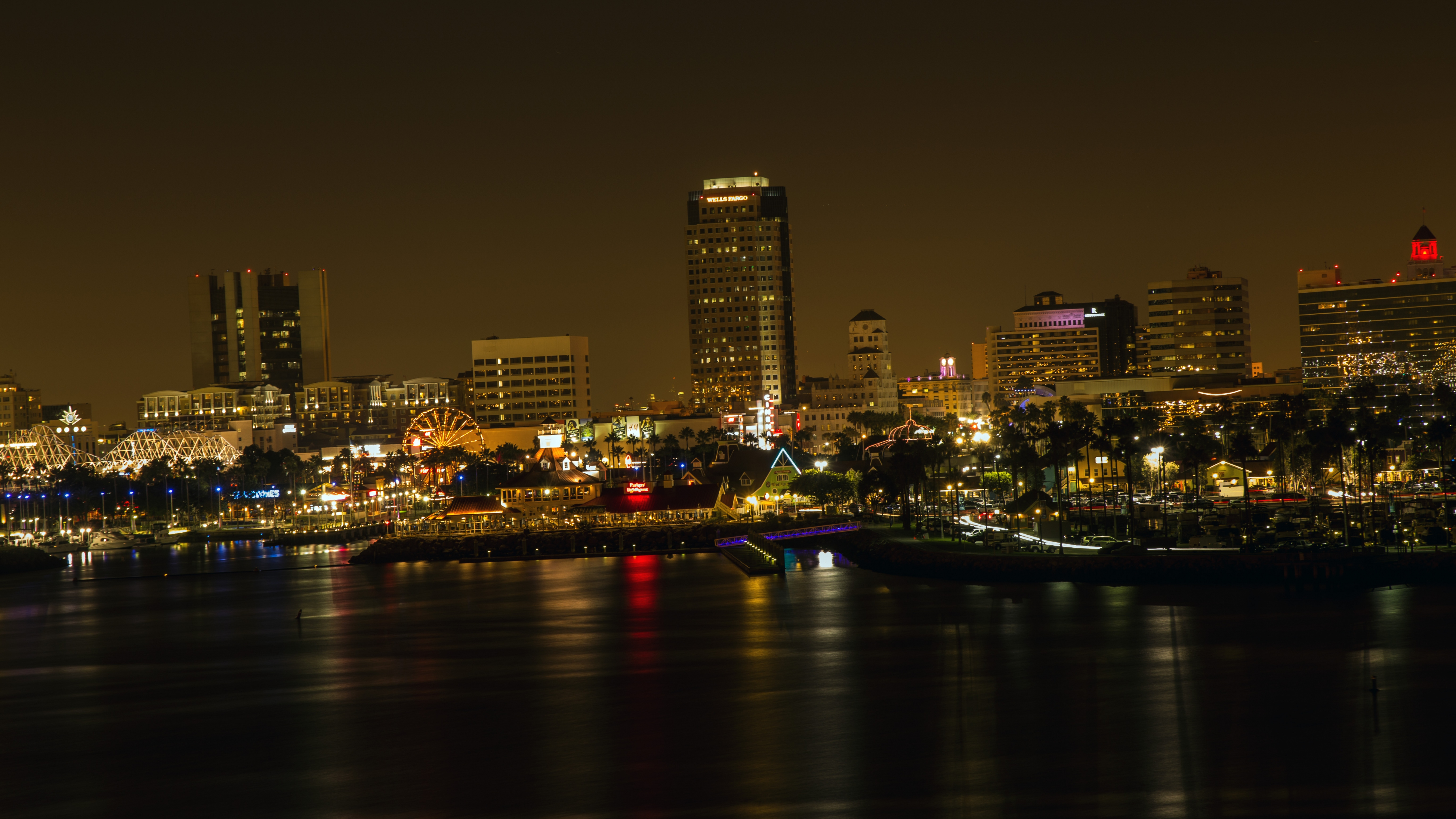 Los Angeles Blick nach Long Beach