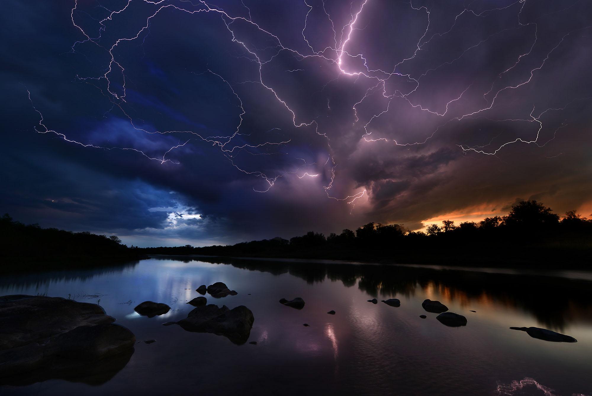 llano river lightening