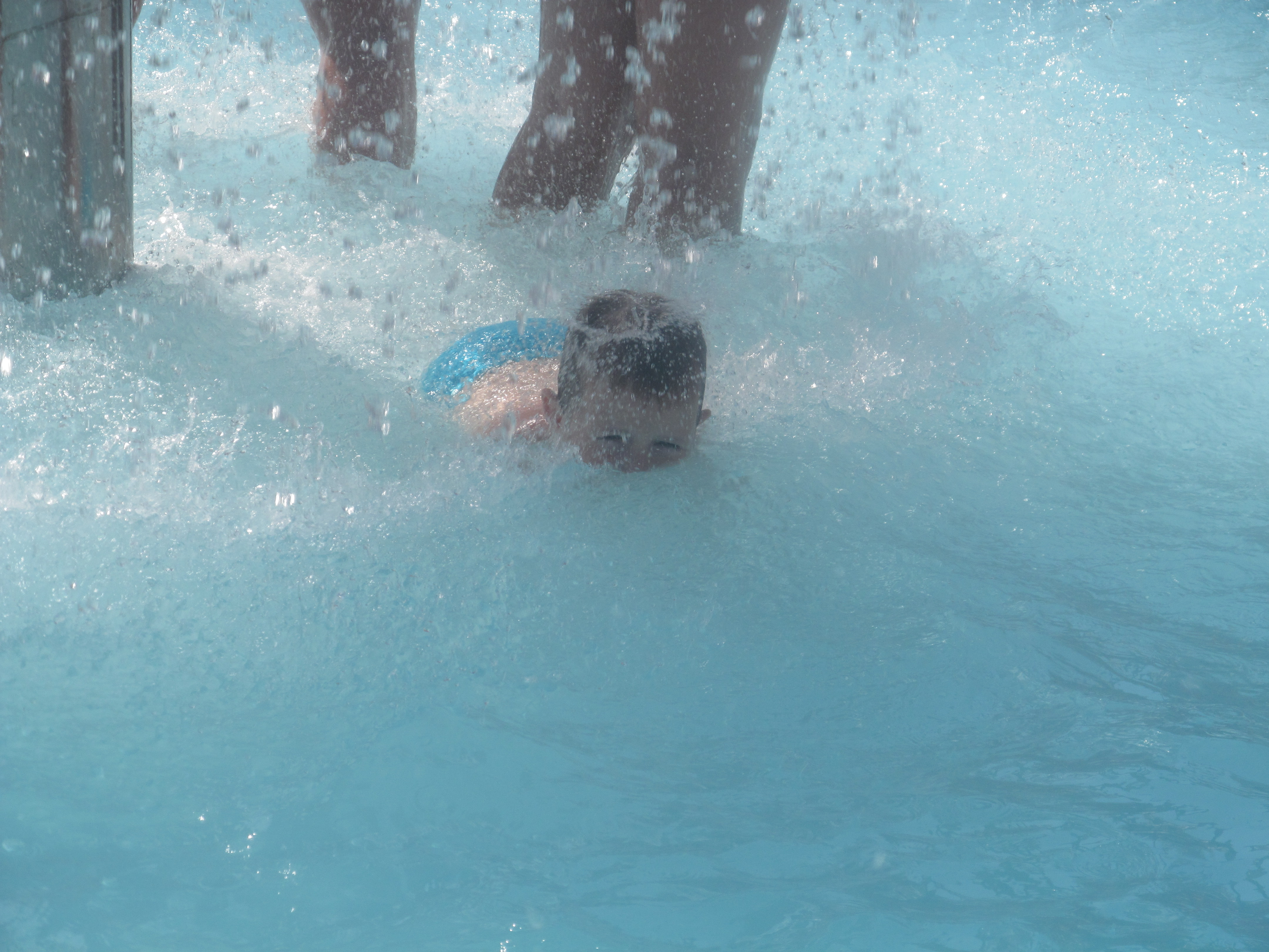childhood in the water park