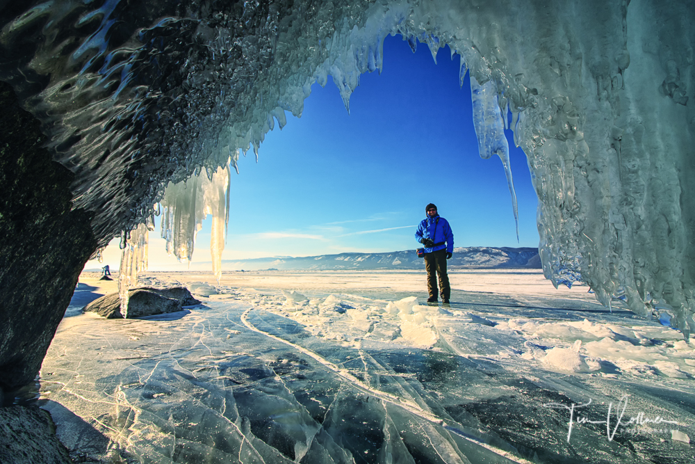 Exploring the ice caves
