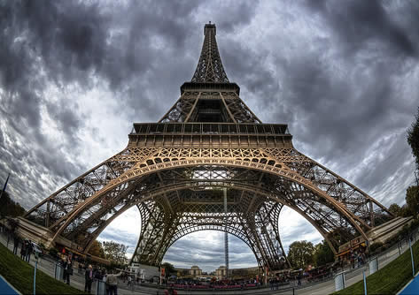 HDR picture of eifel tower image