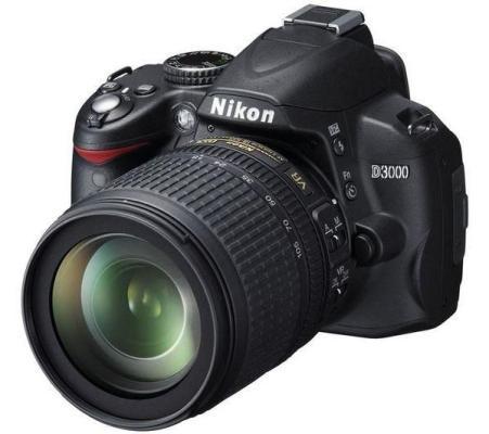 nikon-d3000-af-s-dx-nikkor-18-105-mm-f-3-5-5-6g-ed-vr-halvbl-dt-etui-cf-dc2-0 image