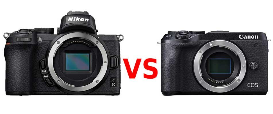 nikon z50 vs canon eos m6 mark ii image